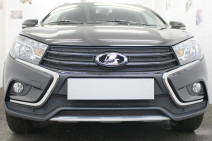Защита радиатора Lada Vesta SW Cross 2017- black боковые
