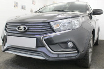 Защита радиатора Lada Vesta SW Cross 2017- chrome боковые